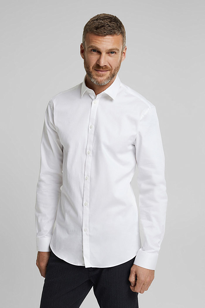 Twill shirt with organic cotton