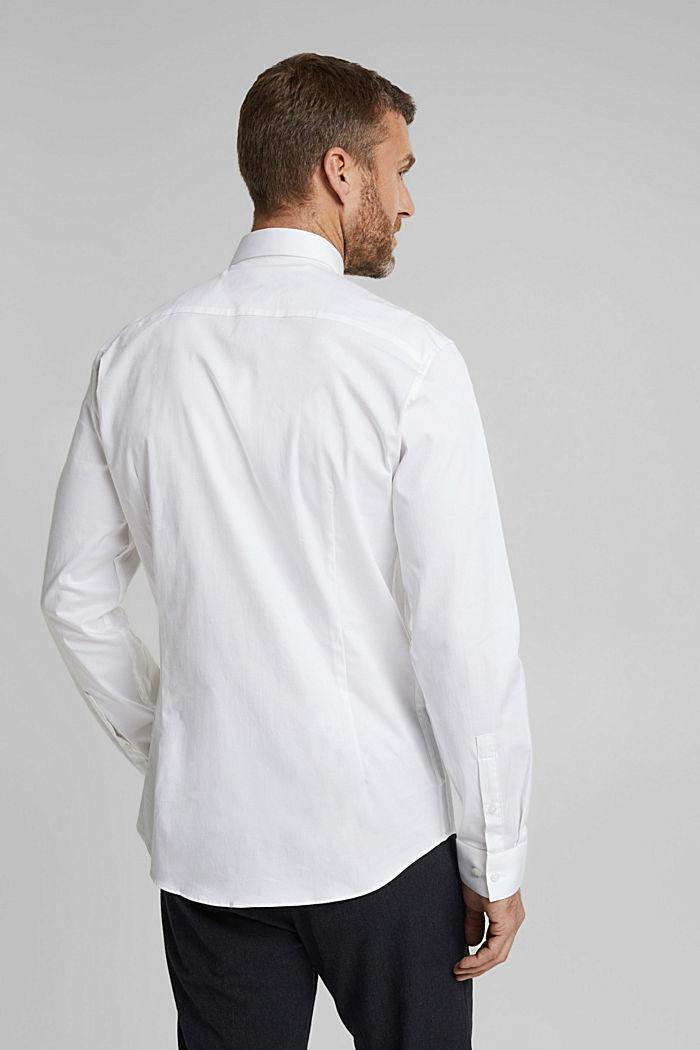 Camicia in twill con cotone biologico, WHITE, detail image number 3