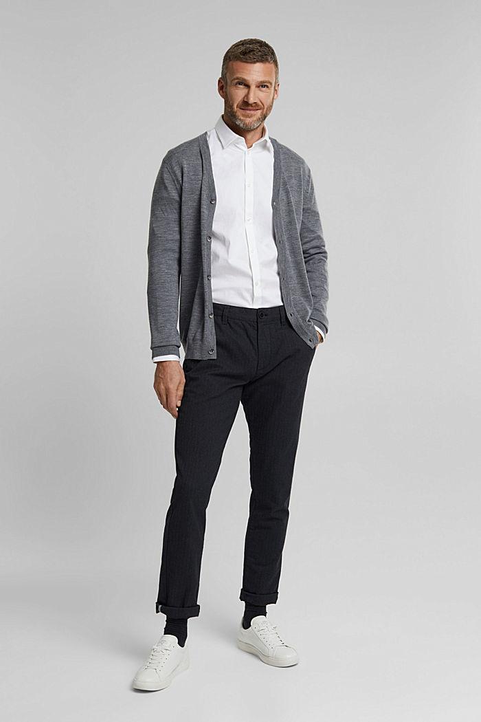 Camicia in twill con cotone biologico, WHITE, detail image number 1