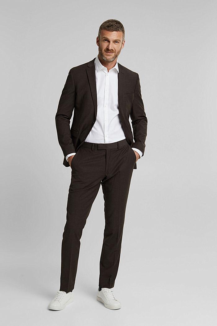 Camicia in twill con cotone biologico, WHITE, detail image number 5