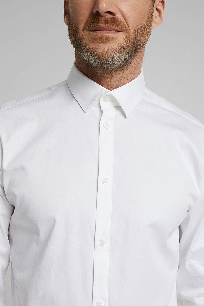 Camicia in twill con cotone biologico, WHITE, detail image number 2