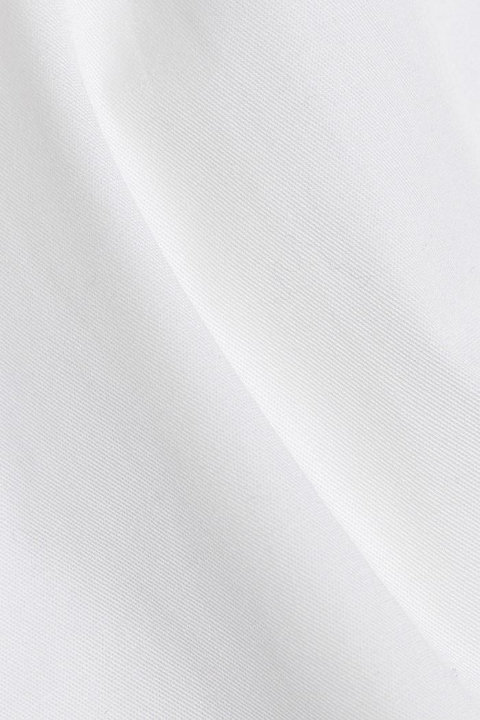 Camicia in twill con cotone biologico, WHITE, detail image number 4