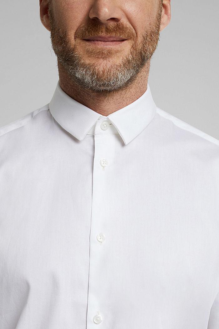 Poplin shirt made of 100% organic cotton, WHITE, detail image number 2