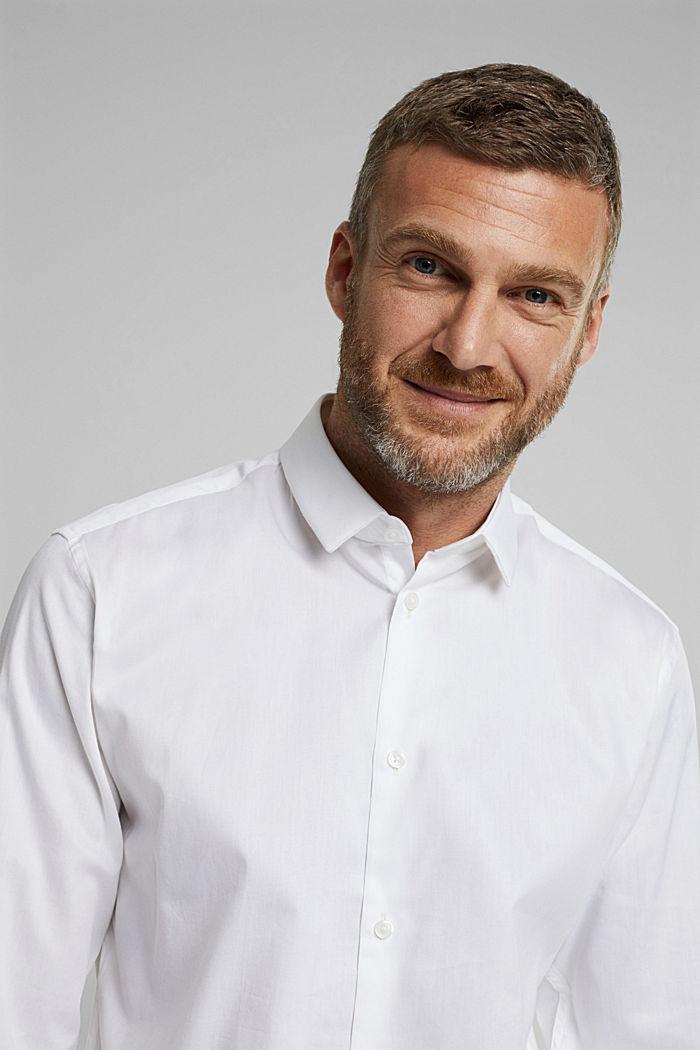Poplin shirt made of 100% organic cotton, WHITE, detail image number 5