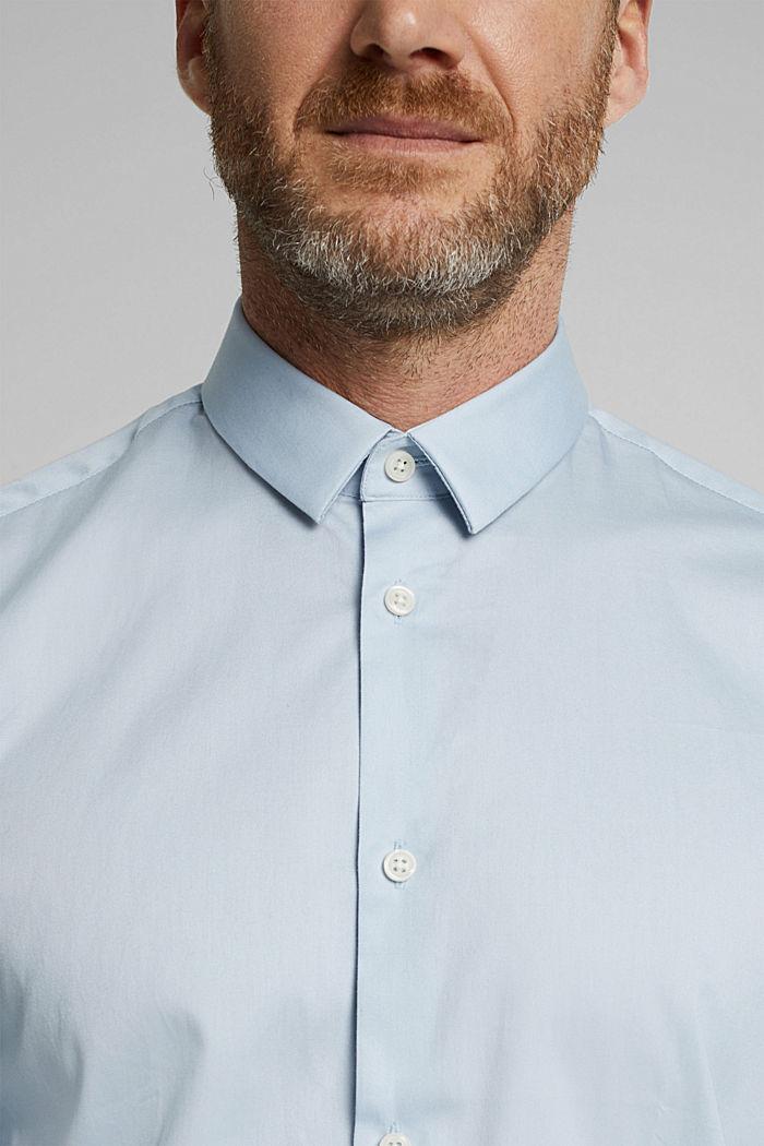 Popeline overhemd van 100% biologisch katoen, LIGHT BLUE, detail image number 2