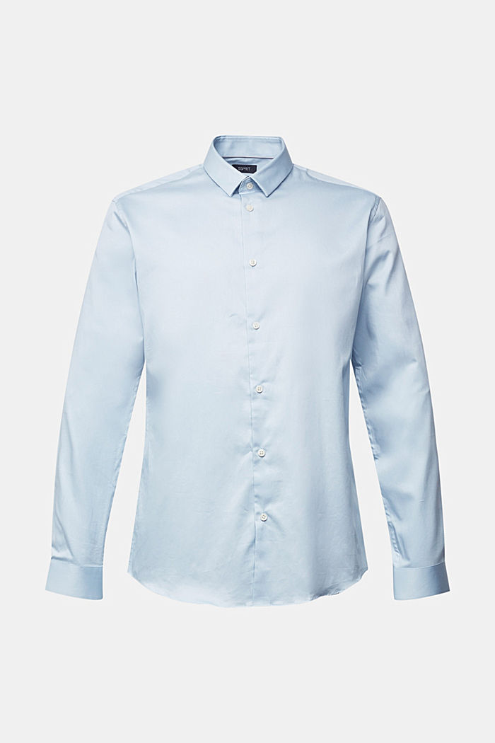Poplin shirt made of 100% organic cotton, LIGHT BLUE, detail image number 5