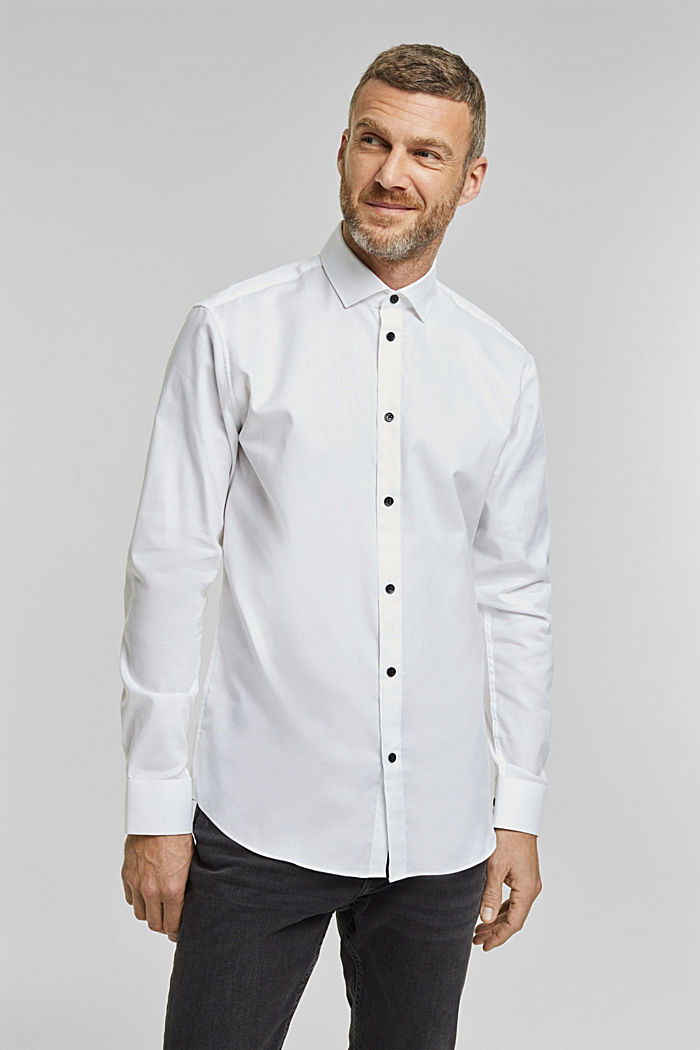 Shirt made of 100% organic cotton, WHITE, detail image number 0