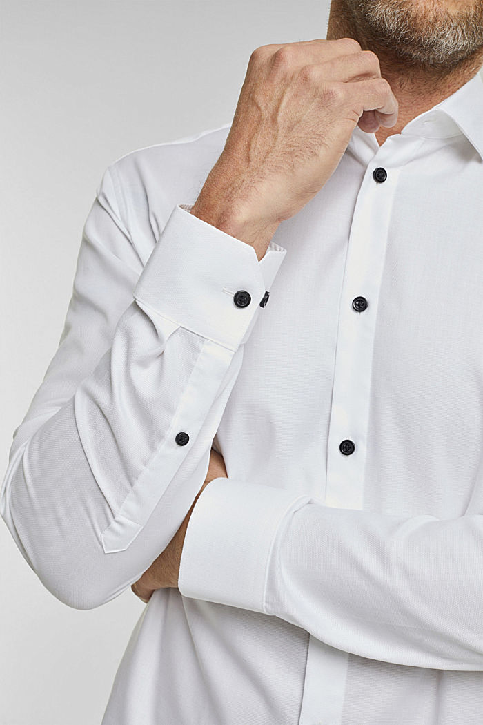 Shirt made of 100% organic cotton, WHITE, detail image number 2