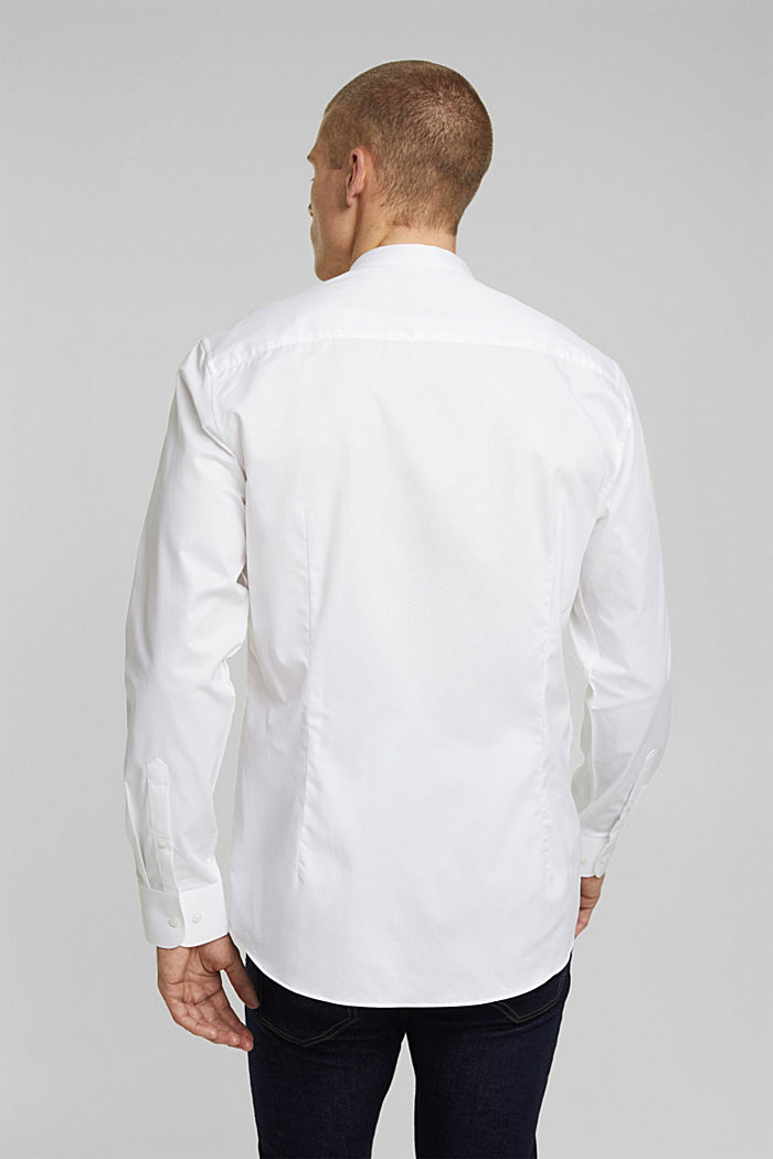 Textured shirt made of 100% organic, WHITE, detail image number 3