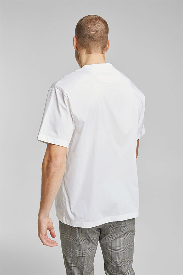 #ReimagineFlexibility: poplin T-shirt, WHITE, detail image number 3