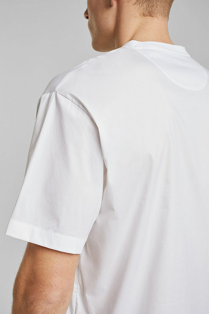 #ReimagineFlexibility: poplin T-shirt, WHITE, detail image number 2