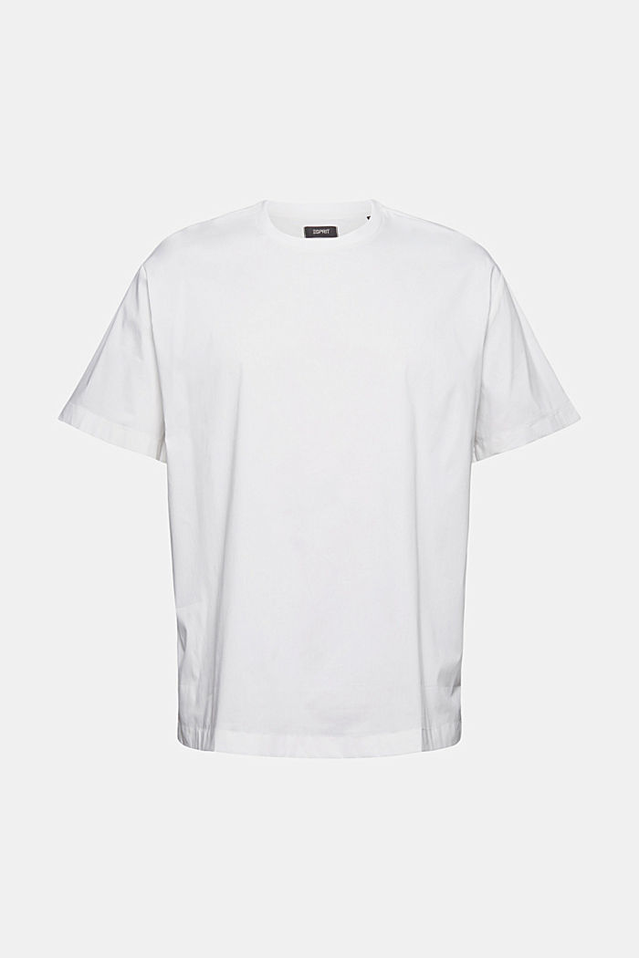 #ReimagineFlexibility: poplin T-shirt, WHITE, overview