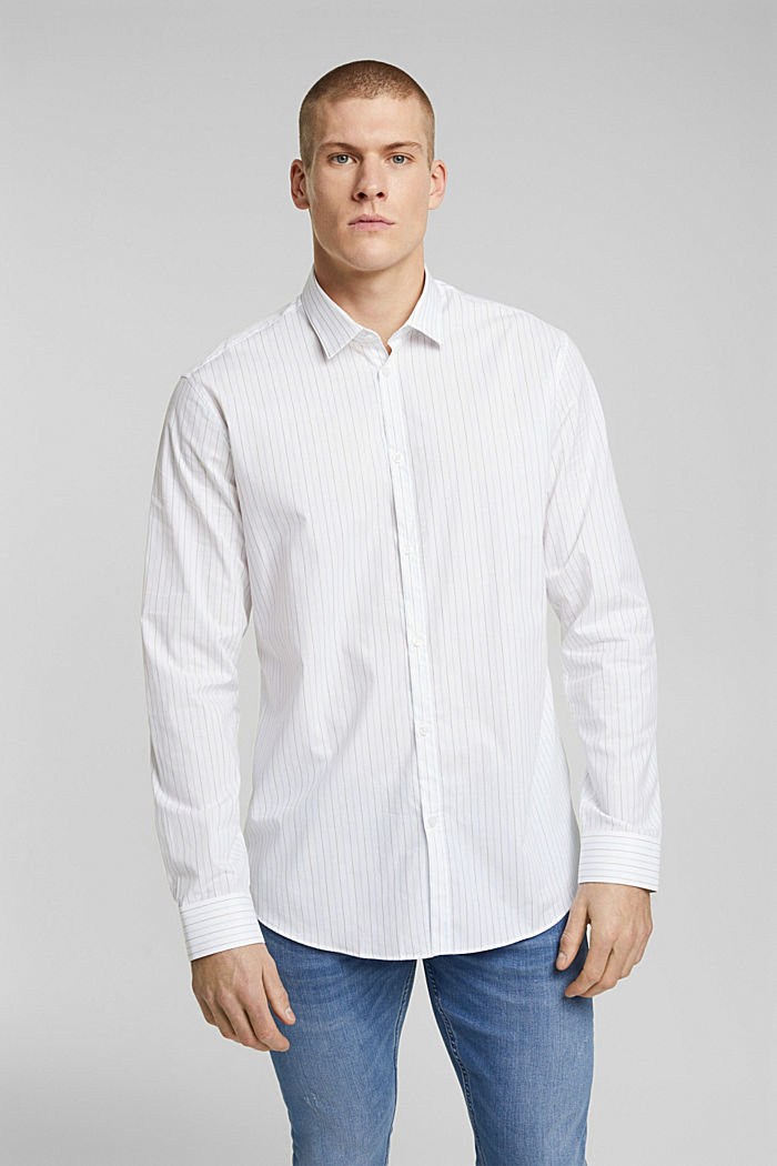 Shirt made of 100% organic cotton, WHITE, overview
