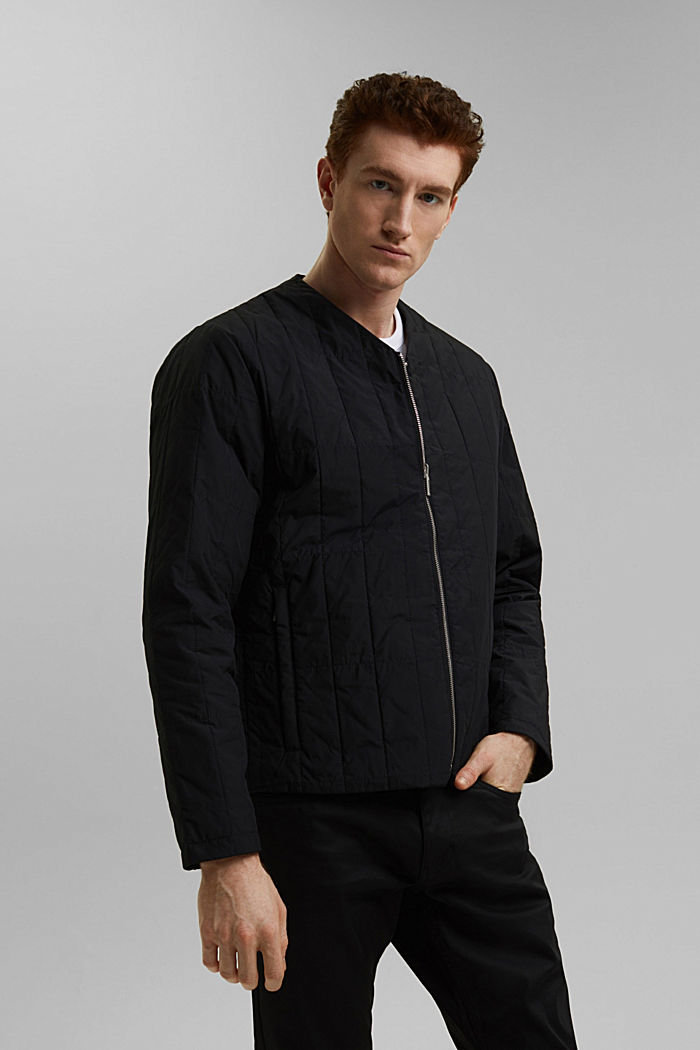 #ReimagineFlexibility 2-in-1 quilted jacket with wool wadding, BLACK, detail image number 0