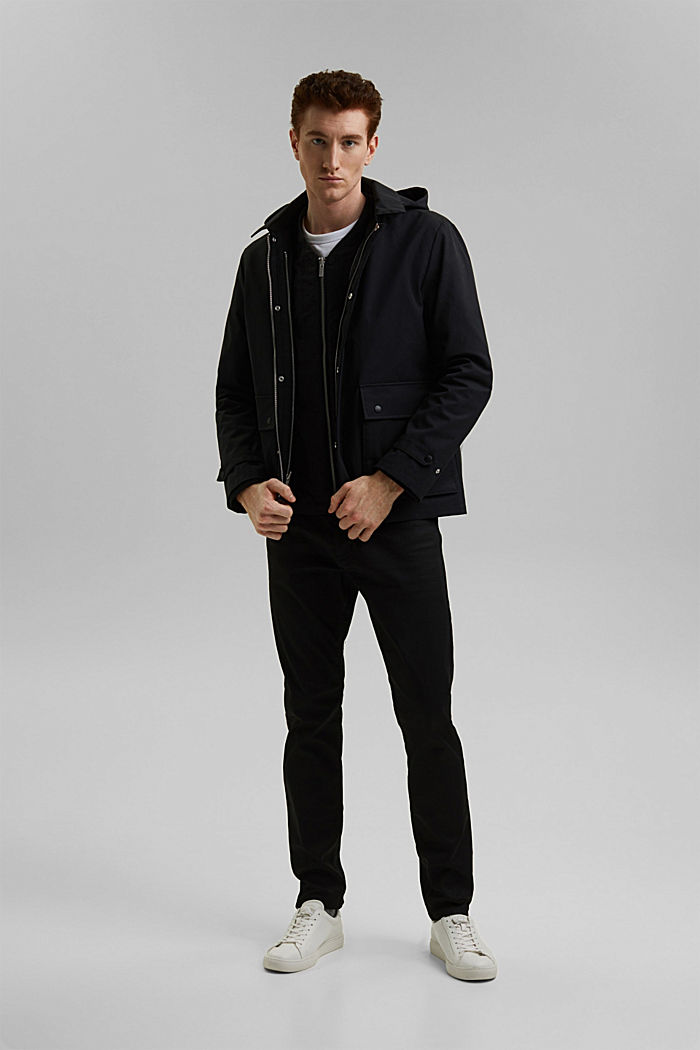 #ReimagineFlexibility 2-in-1 quilted jacket with wool wadding, BLACK, detail image number 4