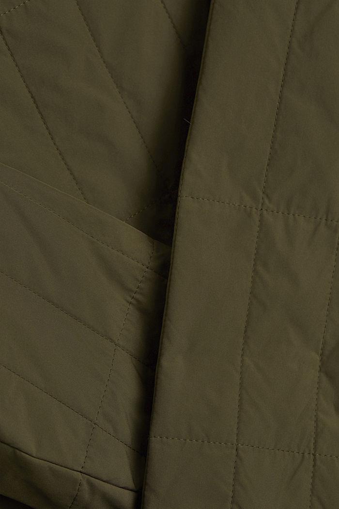 #ReimagineFlexibility 2-in-1 jas met wattering en vulling van wol, DARK KHAKI, detail image number 5