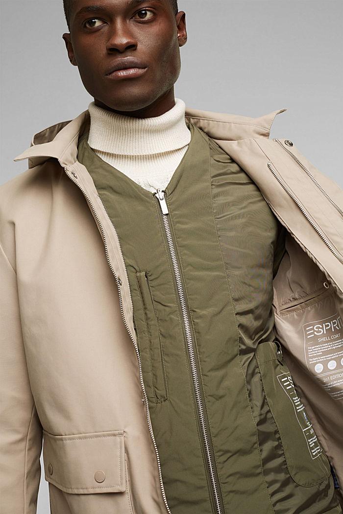 Outdoor jacket, BEIGE, detail image number 4