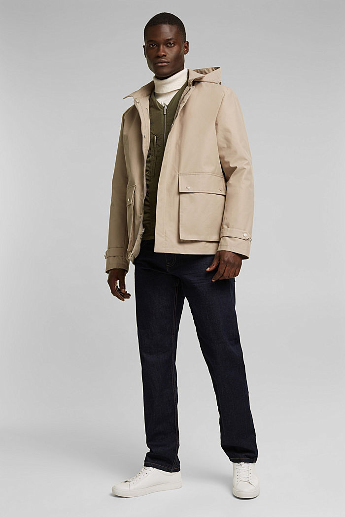 Outdoor jacket, BEIGE, detail image number 1