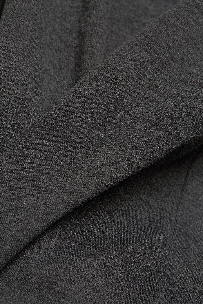 Sweat-Cardigan mit Bio-Baumwolle, ANTHRACITE, detail image number 4