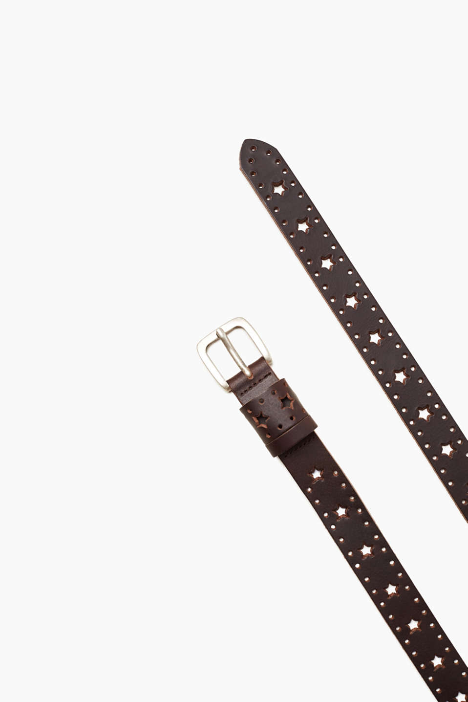 edc - Star pattern leather belt