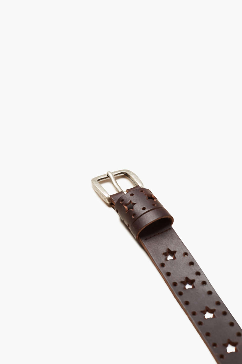 Star pattern leather belt