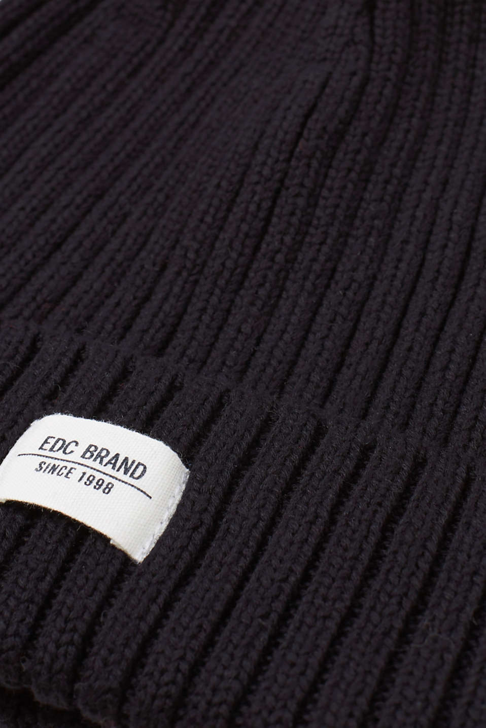 Ribbed beanie, 100% cotton