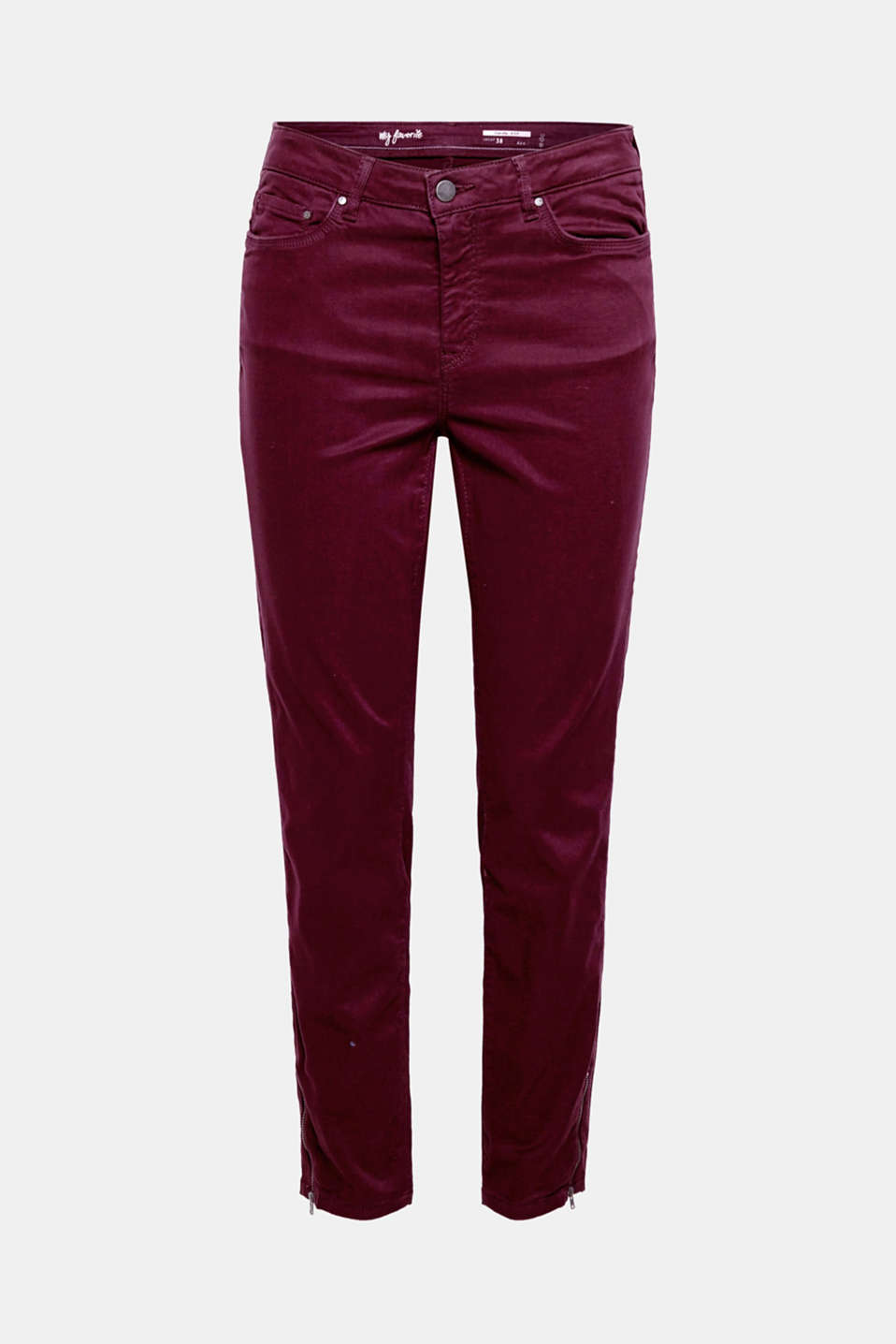 The soft outer surface makes the cropped premium trousers with zips super comfortable and a favourite best-seller!