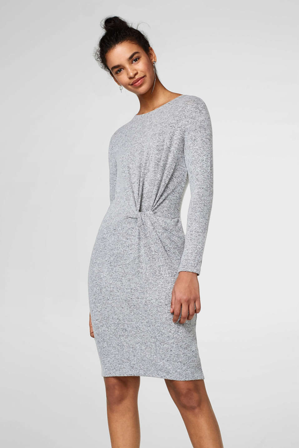 edc - Melange jersey knotted dress