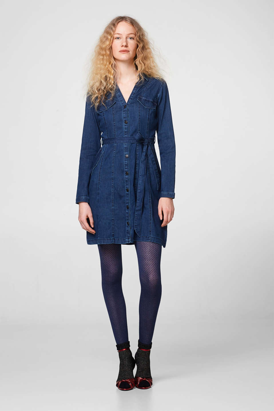 Abito in denim di cotone stretch