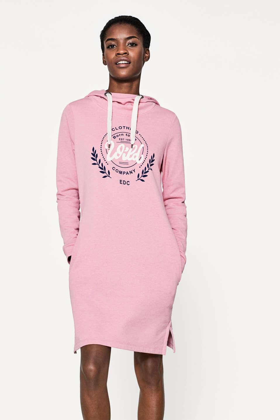 edc : Vestido felpa estampada y capucha en la Online-Shop