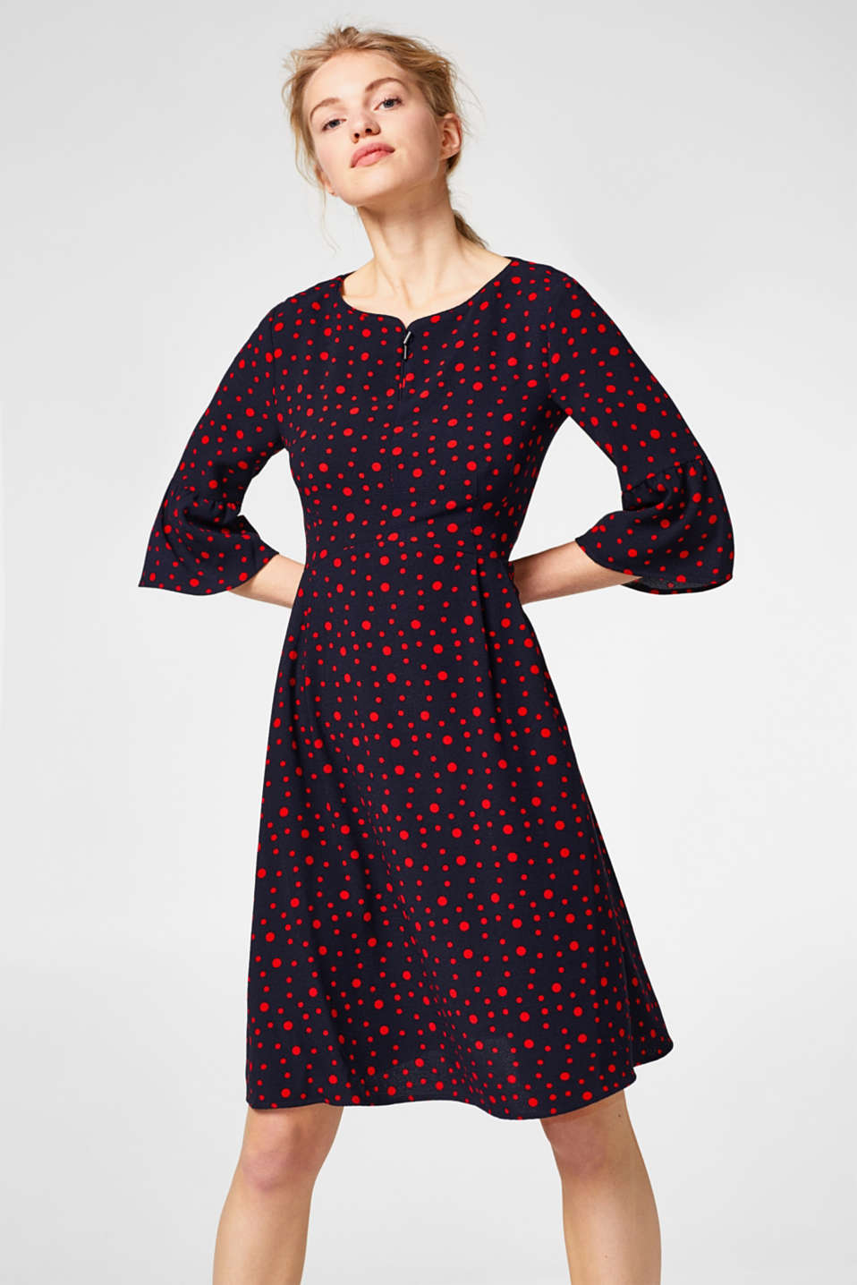 edc - Flowing dress with polka dots