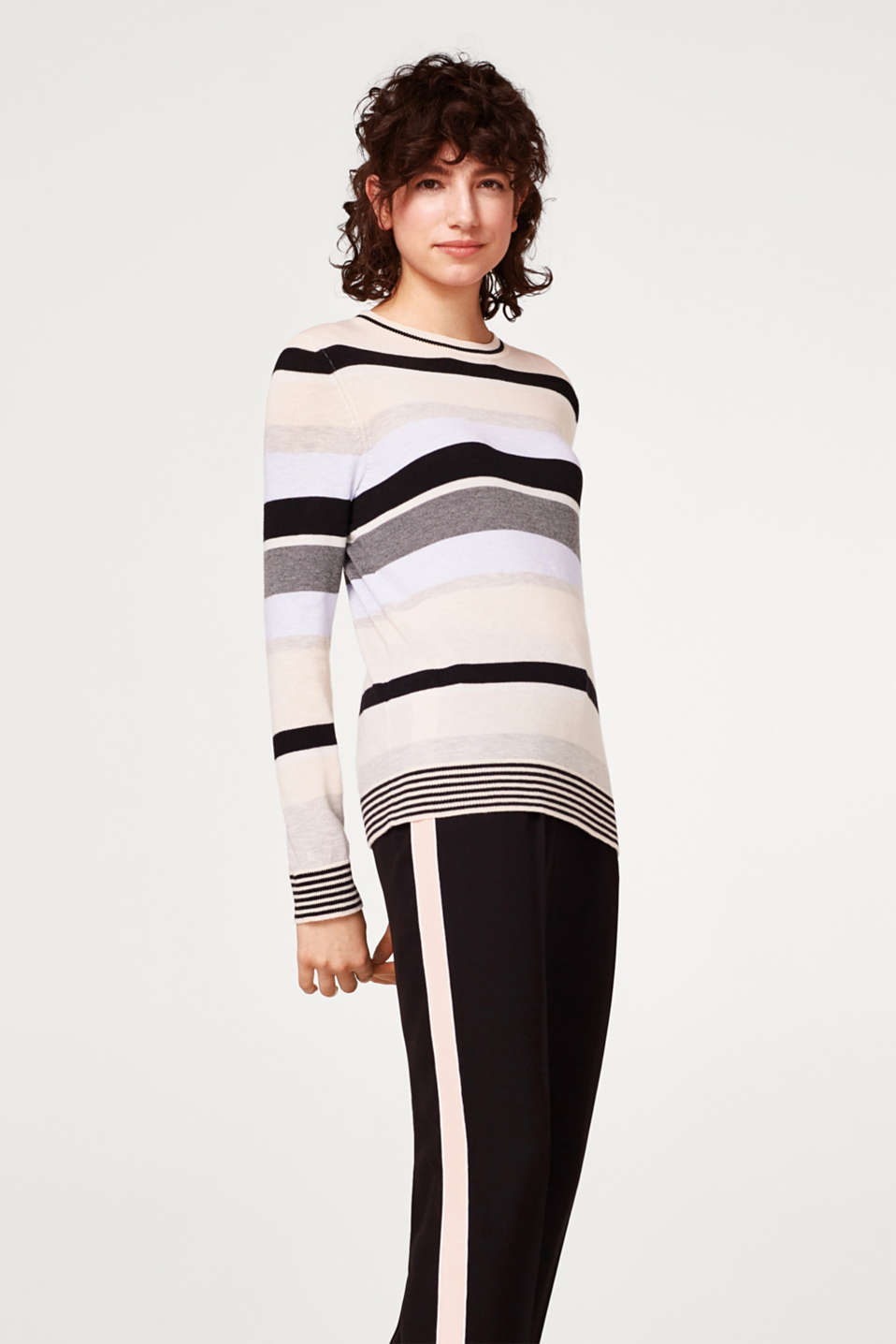 edc - Colour block jumper in cotton