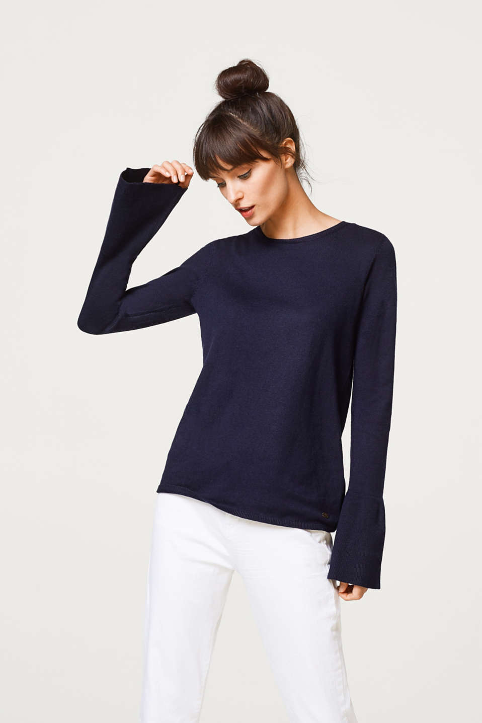 edc - Fine knit jumper + trumpet sleeves