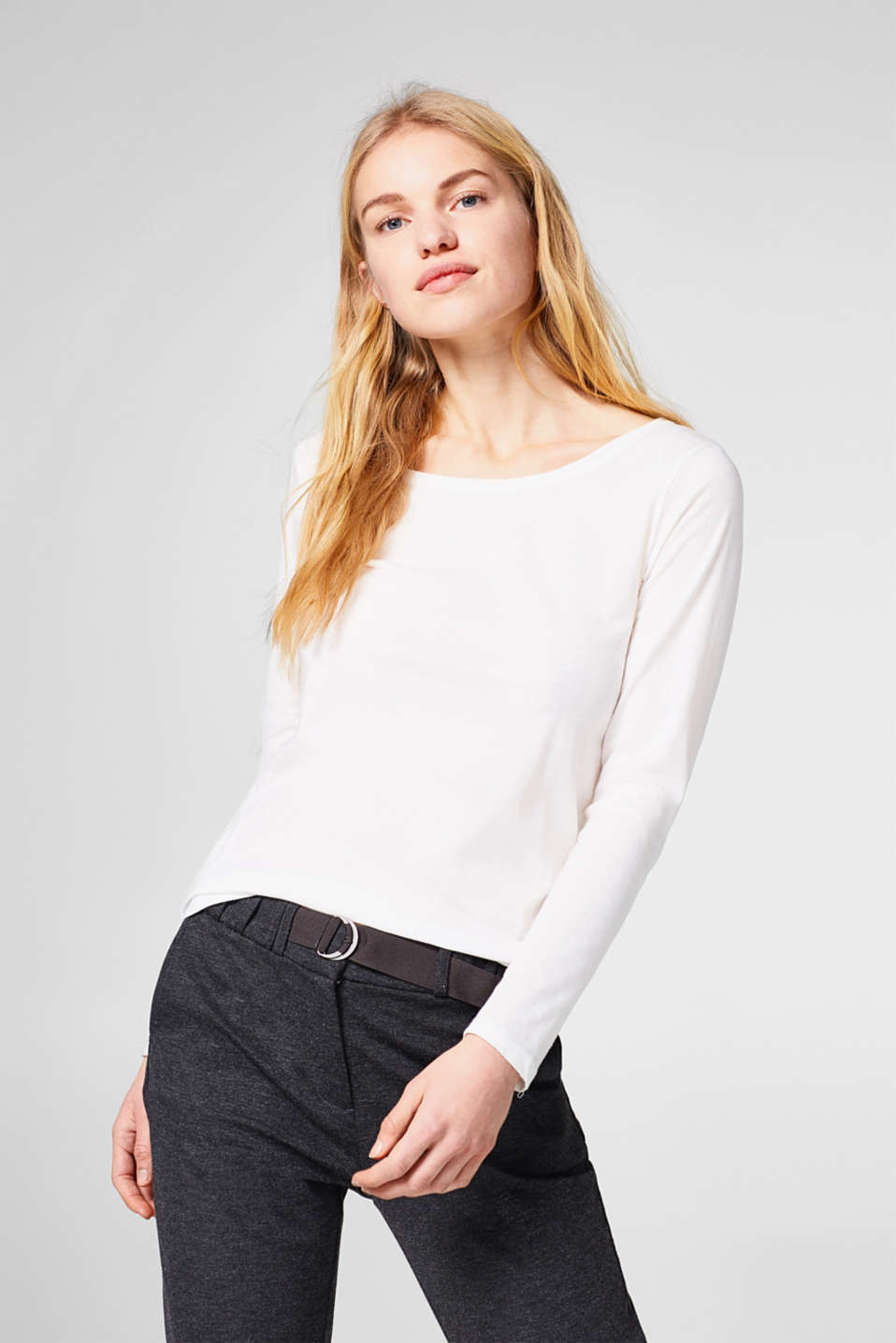 edc - Long sleeve top with organic cotton