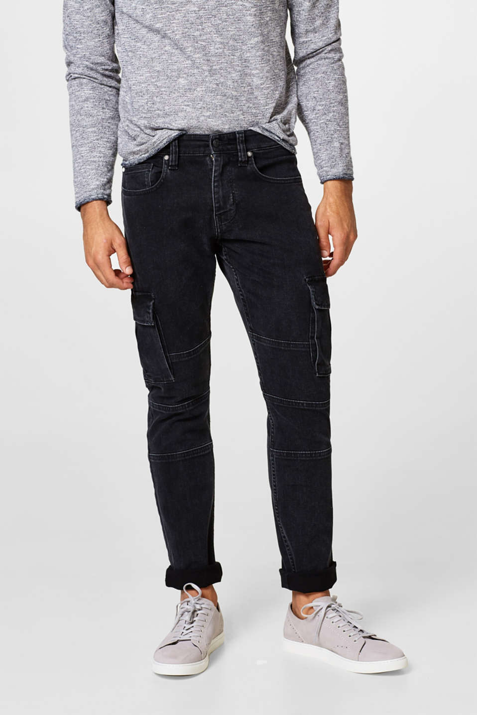 edc - Superstretch-Jeans im Cargo-Look