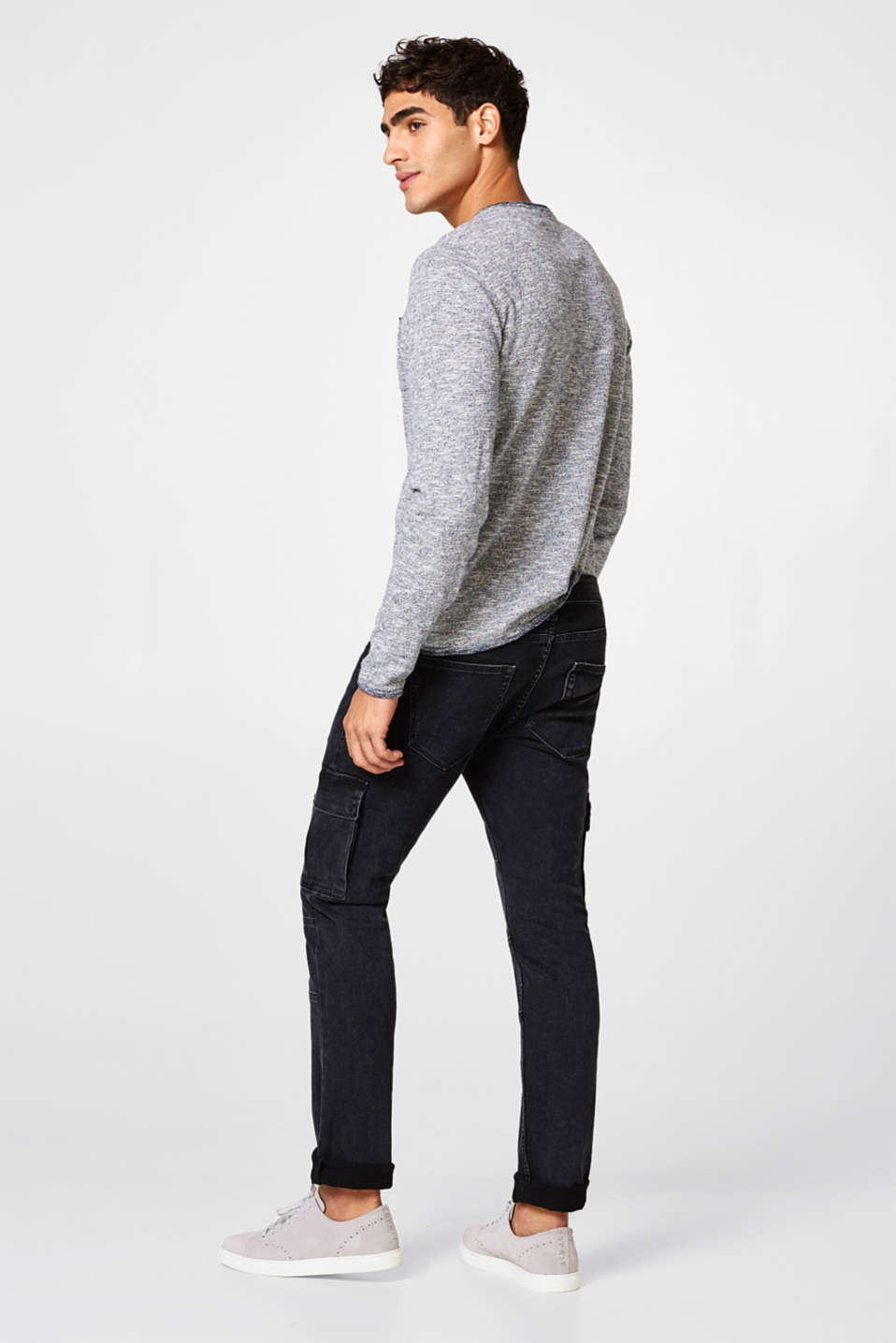 Superstretch-Jeans im Cargo-Look