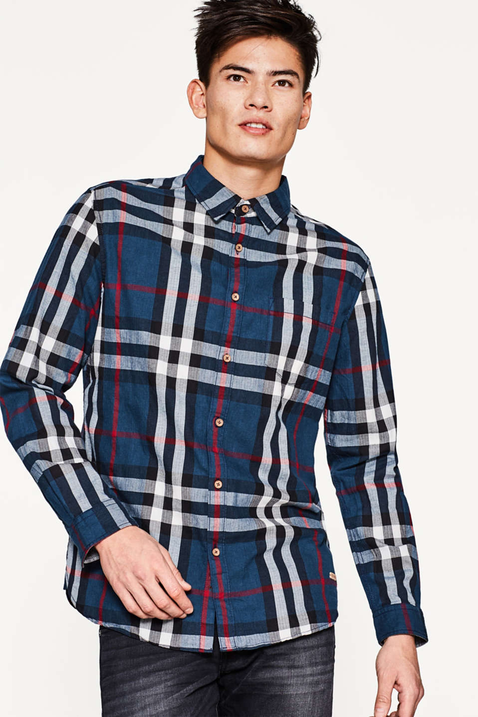 edc - Shirt with a classic check pattern