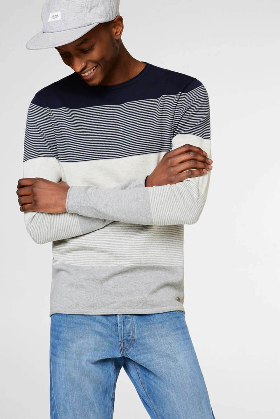 edc - Block stripe cotton jumper