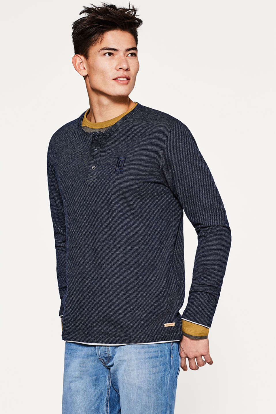 edc - Jersey long sleeve Henley top