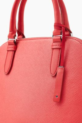 City Bag in strukturierter Leder-Optik für Damen Coral Red Esprit IZ5eLw