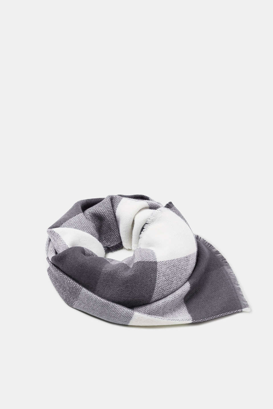 Esprit - Soft woven scarf with a check pattern