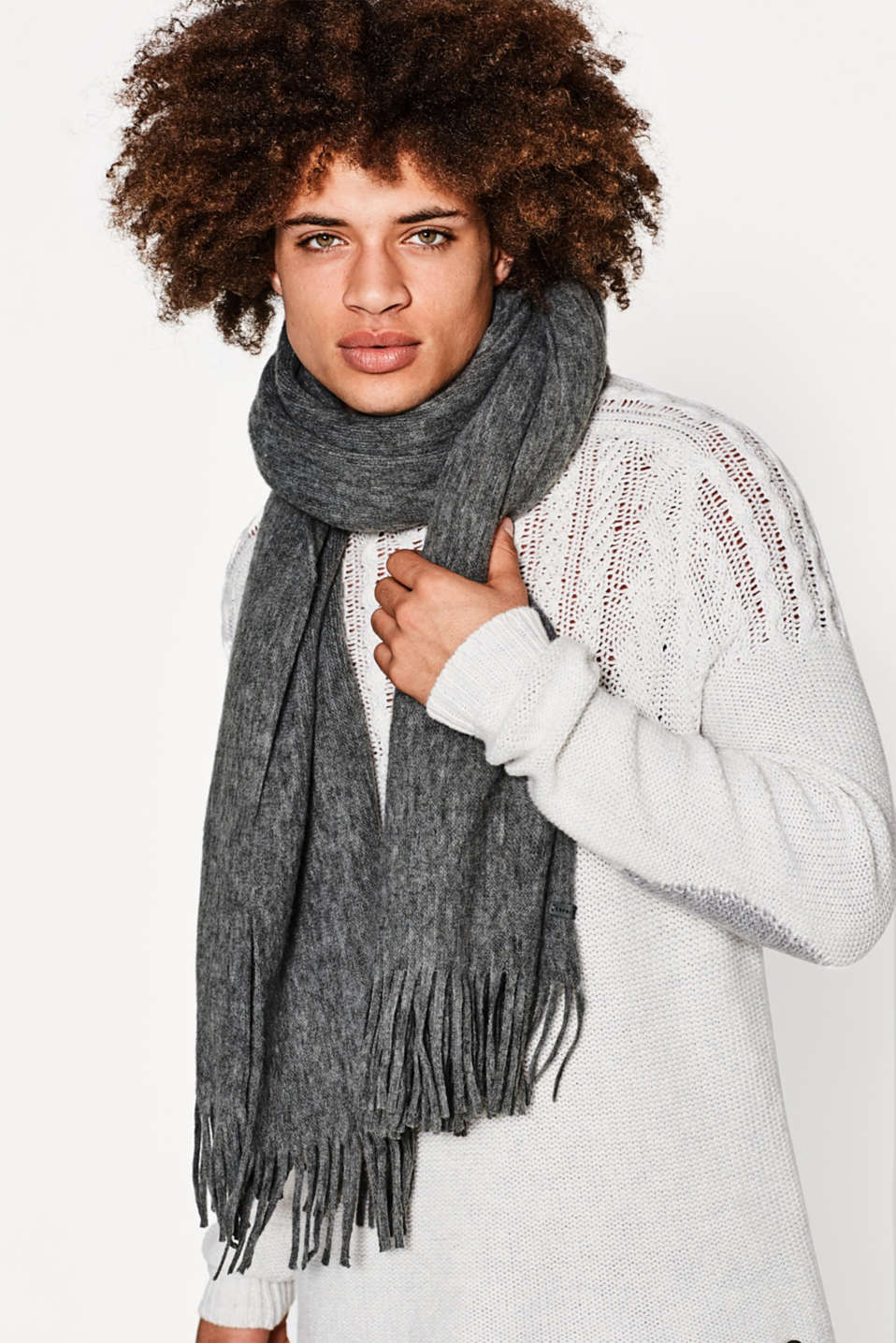 XL scarf with an ultra soft outer surface