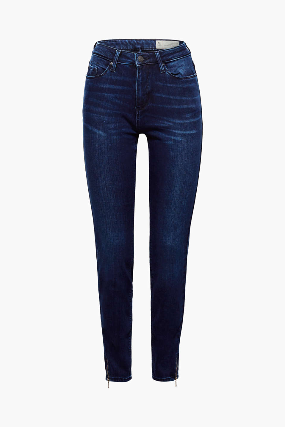 The stretchy fabric makes the skin-tight fit feel mega comfy: skinny jeans with hem zips!