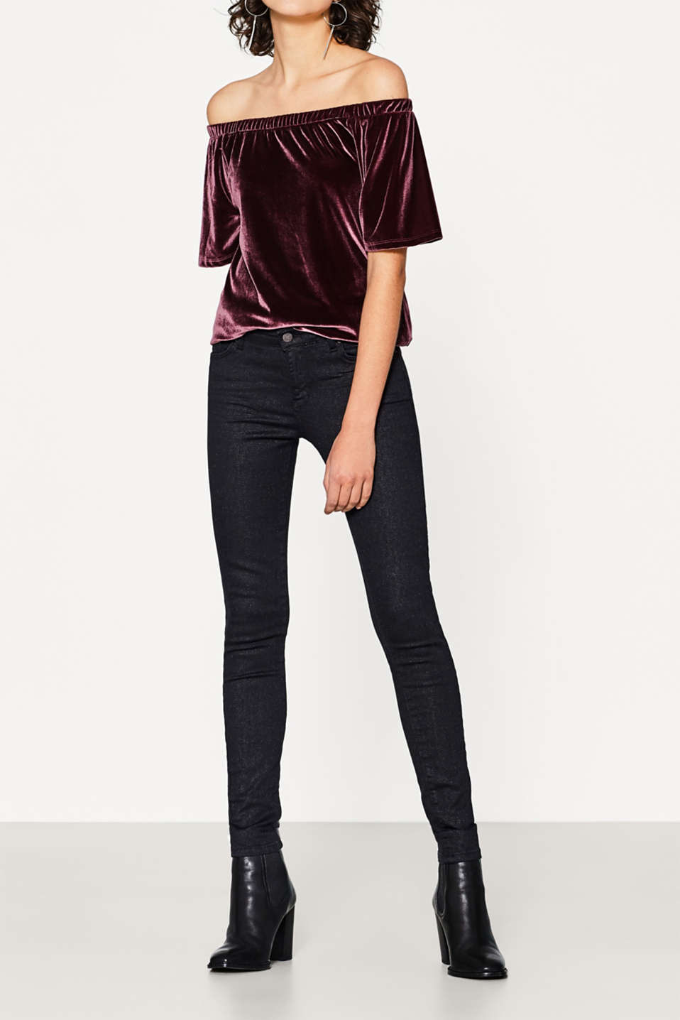 Esprit - Super stretch jeans with a glitter coating