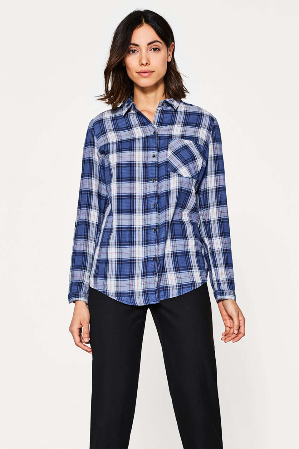 Esprit - Double-faced blouse in 100% cotton