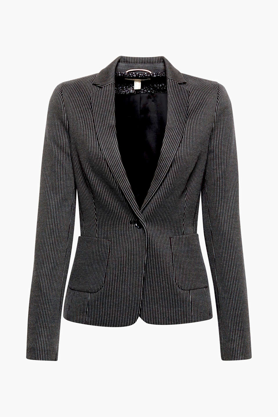 Combine this 1-button, soft jersey blazer with the matching trousers or your fave pair of skinny jeans!
