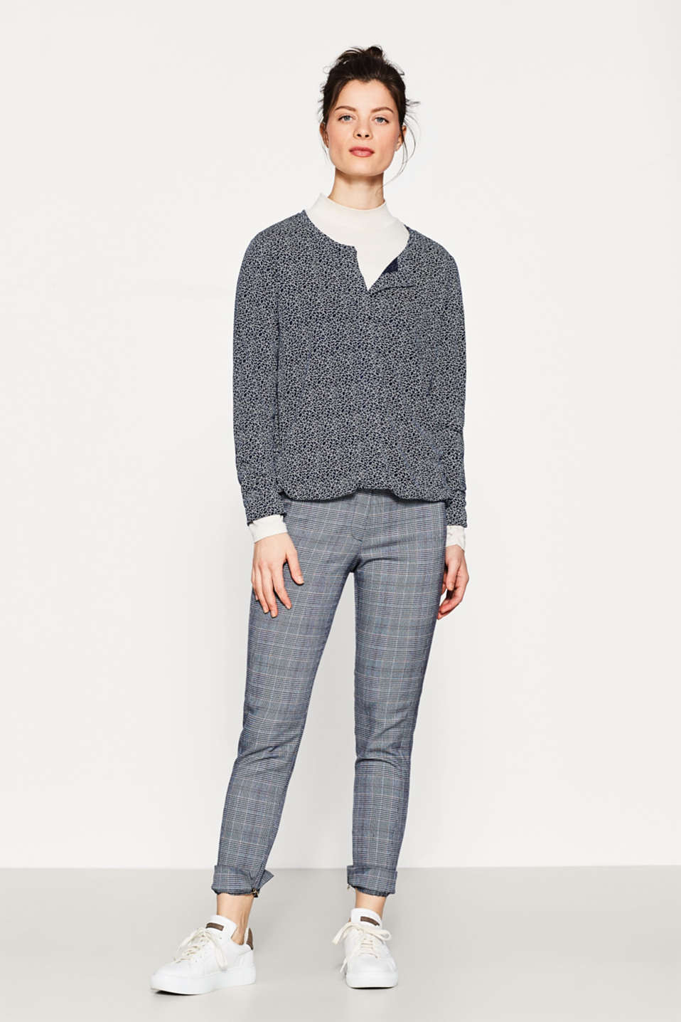Esprit - Flowing Henley long sleeve with a print