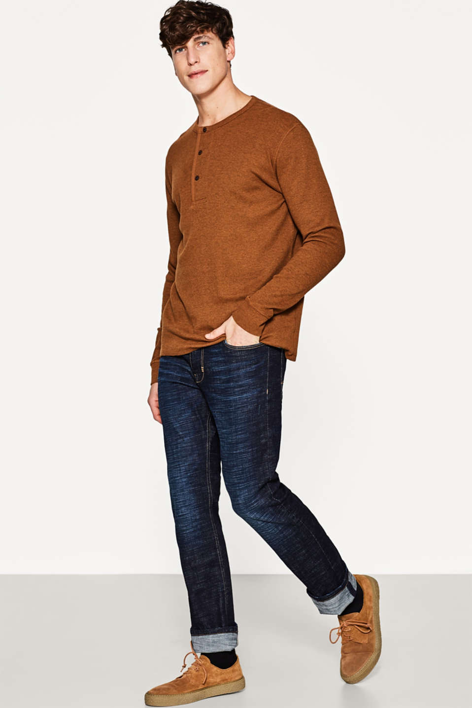 Esprit - Stretch denim jeans with a cool wash
