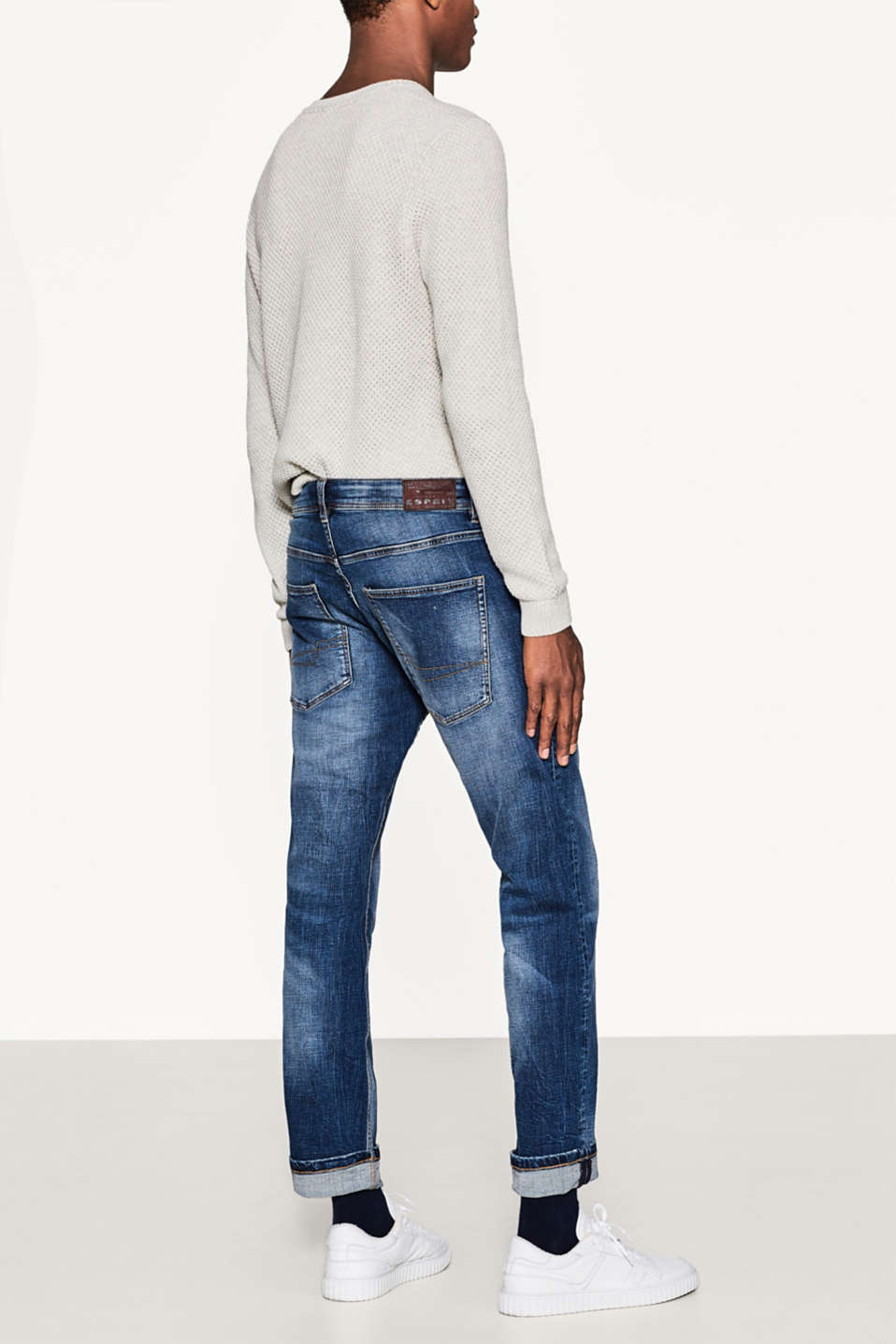 Stretch jeans in a vintage garment wash