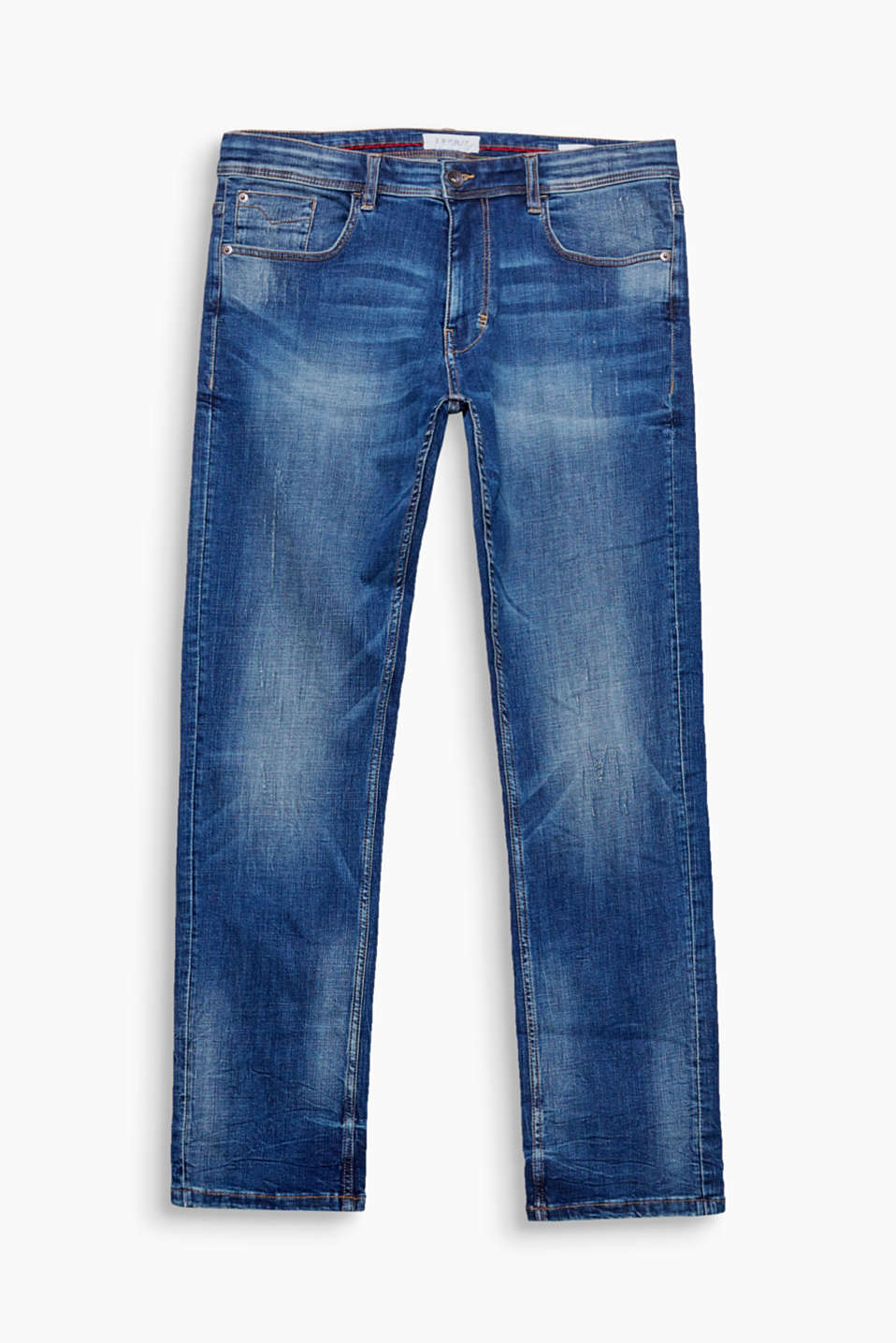 We love denim! These five-pocket jeans come in an authentic vintage wash.